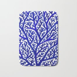 Fan Coral – Navy Bath Mat