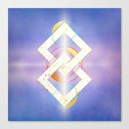 Linked Lilac Diamonds :: Floating Geometry Canvas Print