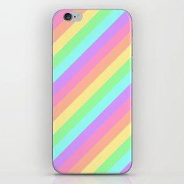 Pastel Rainbow Diagonal Stripes iPhone Skin