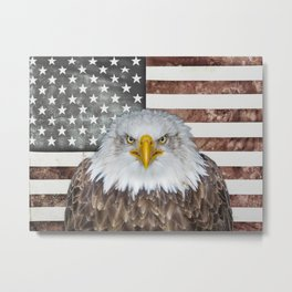 American Bald Eagle Patriot Metal Print