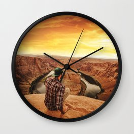 on top of canyonlands Wall Clock