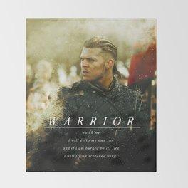Warrior Watch Me - Ivar The Boneless Throw Blanket
