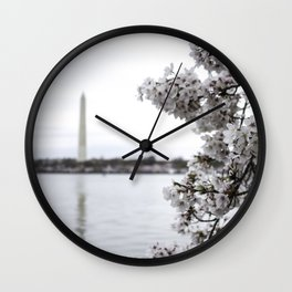 Capital in Spring Wall Clock