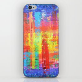 I have found my joy - prophetic art abstract expressionism rainbow colourful braille contemporary iPhone Skin