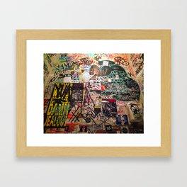 Grafitti in a Restroom Framed Art Print