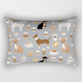 Chihuahua dog breed coffee pupuccino dog art chiwawas chihuahuas gifts Rectangular Pillow