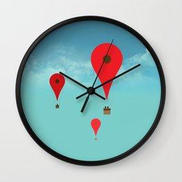 Google balloon Wall Clock