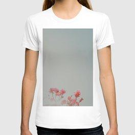 Minimalist Pink Flora T-shirt
