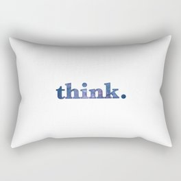 THINK with stars night sky cosmos blue starry space Rectangular Pillow