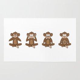 Four Wise Monkeys Rug