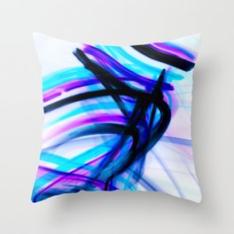 Attitude Abstract Digital Line Painting Throw Pillow