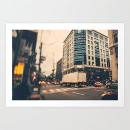 Traffic City Art Print