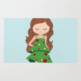 I am a Christmas Girl - Christmas tree inspired Rug