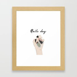 Nails day Framed Art Print