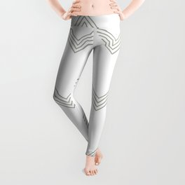Simply Deconstructed Chevron Retro Gray on White Leggings