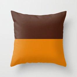 Choc Caramel Throw Pillow
