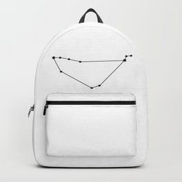 Capricorn Star Sign Black & White Backpack