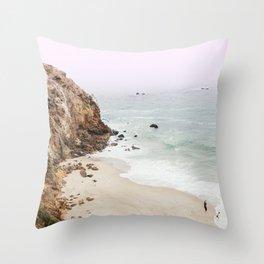 Beach Print - Point Dume, Malibu Throw Pillow