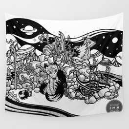 Space foxes Wall Tapestry