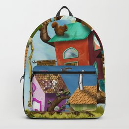 Home Sweet Tiny Tree Houses Backpack