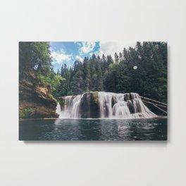 Lower Lewis River Falls Metal Print