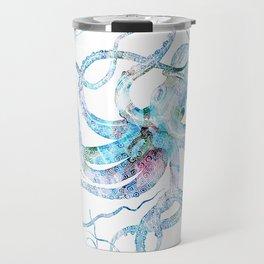 Vintage octopus colorized Travel Mug