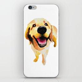 Good Boy / Yellow Labrador Retriever dog art iPhone Skin