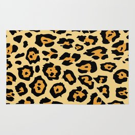 safari animal brown and tan cheetah leopard print Rug
