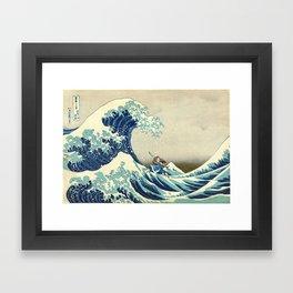 Katara Riding the Wave Framed Art Print