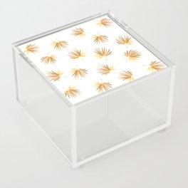 Golden Palm Leaf Acrylic Box