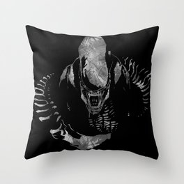 Aliens Here Throw Pillow