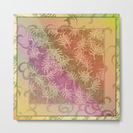 Leaf Scatters Metal Print