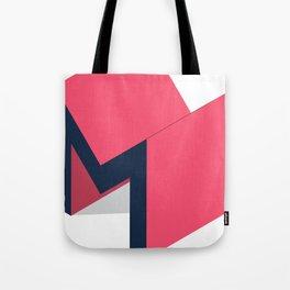 Letters M - geometric Tote Bag