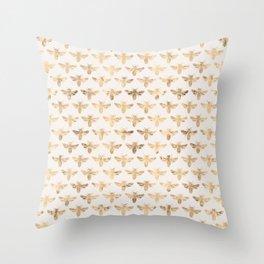 Honey Bees (Sand) Throw Pillow