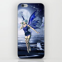 Blue Fairy and Butterflies iPhone Skin