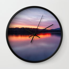 evening on raquette lake Wall Clock