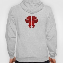 Red and Black Aztec Twins Mask Illusion Hoody