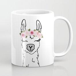 Floral Crown Llama Coffee Mug