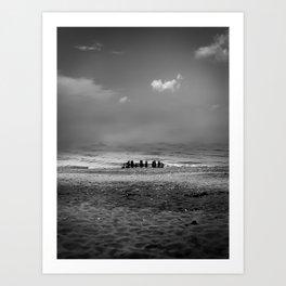 Beach Henge Art Print