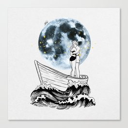 Night above the moon. Canvas Print
