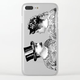 Tattooed Victorian Lovers Clear iPhone Case