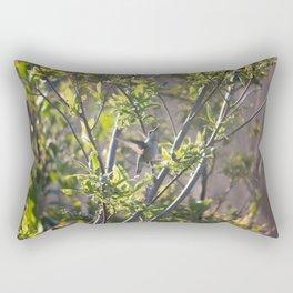 Hummingbird in the Bushes Rectangular Pillow