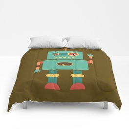 Fun Robot Toy Graphic Comforters