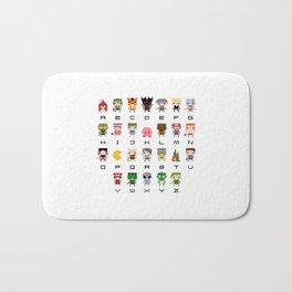 Video Games Pixel Alphabet Bath Mat