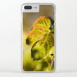 Autumn Grape Leaf Clear iPhone Case