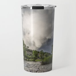 Mountain Rain - Storm Brews Over San Juan River near Pagosa Springs Colorado Travel Mug