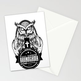 Black Owl Stationery Cards