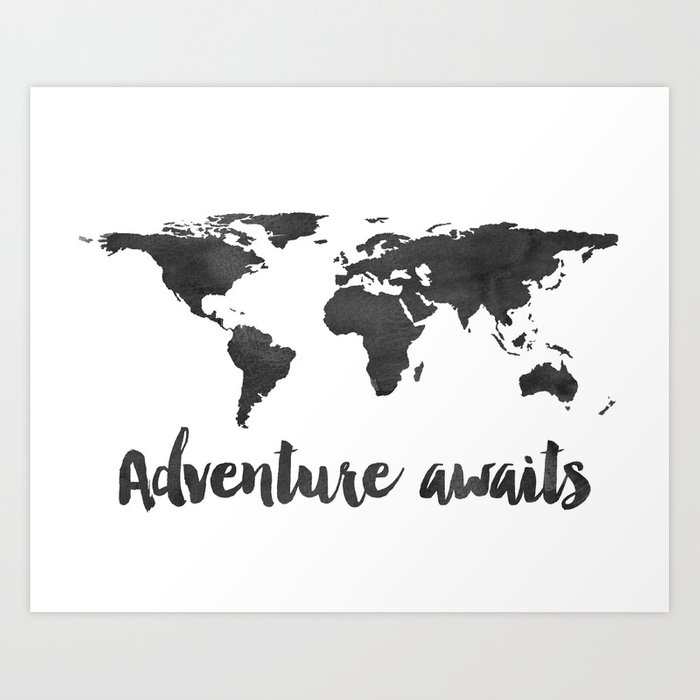 Printable adventure awaits world map poster navy travel quote print printable adventure awaits world map poster navy travel quote print jpg file instant gumiabroncs