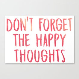 Chance the Rapper - Don't forget the happy thoughts Canvas Print