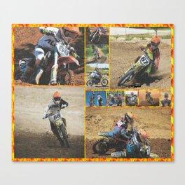 Motocross Collage Canvas Print